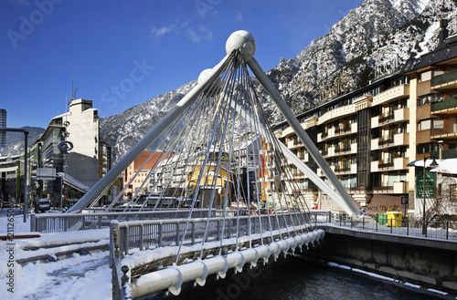 Bridge in Andorra la Vella. Andorra Canvas Print