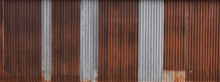 Fluted Wall Texture Or Metal Texture Background. Texture Background. Rust Or Construction