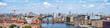 canvas print picture - Berlin Panorama mit Blick über Friedrichshain und Kreuzberg