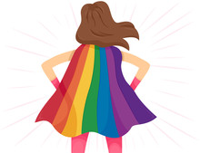 Super Hero Girl Rainbow Cape L...