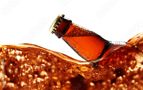 Foto op Plexiglas Bier / Cider beer bottle isolated on white