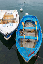 Two Old Rowing Boats - Liguria...