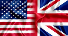Flag United Kingdom And US Silk