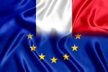 Flag Of France And The European Union Silk