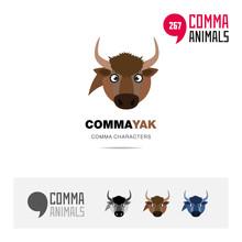 Yak Animal Concept Icon Set An...