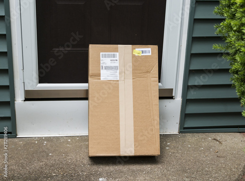 Fotografie, Obraz  Package left at front door