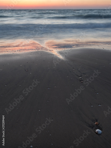 Landscape Sunset on the beach- Palmachim Beach Israel