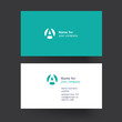 Vector business card template.