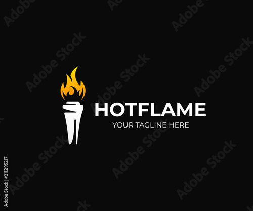 Fotografía Cup with torch logo template