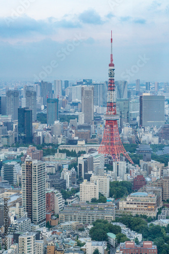 Poster Tokyo TOKYO, JAPAN - June 21, 2018: Tokyo Tower is the world's tallest, self-supported steel tower in Tokyo, Japan