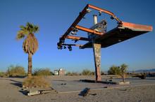 Shoe Tree At Abandoned Gas Station Mojave