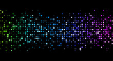 Black Background With Colorful Geometric Pattern.