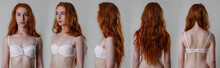 Collage Snap Red Hair Models. ...