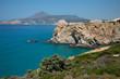 Landscape in Milos island in Greece