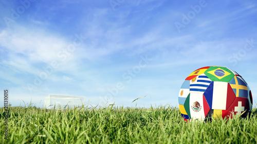 Fotografía France team soccer ball for russia sport event