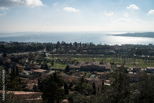 Foto op Canvas Khaki Castle. Padenghe sul Garda is a town and comune in the province of Brescia, in Lombardy.