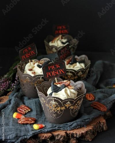 Fotografie, Obraz  Dyniowe cupcakes