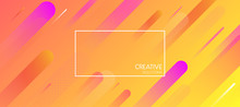 Orange Creative Solutions Background With Geometric Pattern.