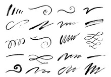 Set Of Hand Drawn Lettering An...