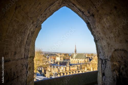 Valokuvatapetti Oxford City viewed through the tower of St. Mary church