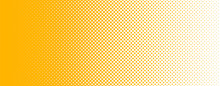 Seamless Screentone Graphics_Halftone Gradation_Yellow