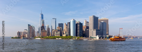 Foto op Plexiglas Amerikaanse Plekken Panoramic view of Lower Manhattan, New York City, USA.
