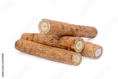 burdock roots or kobo isolated on white background Fototapet