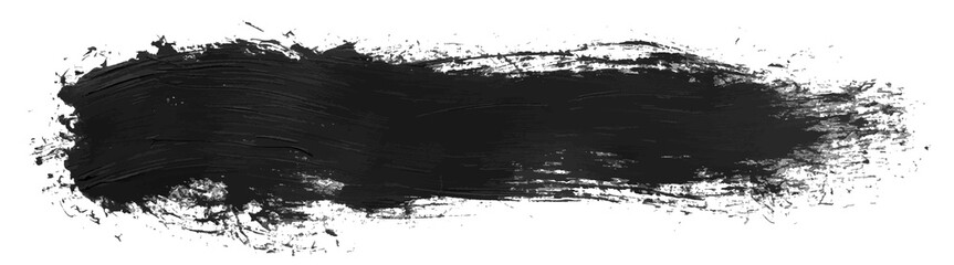 Long hand drawn isolated paintbrush stripe with dirty black color esp 10 vector illustration