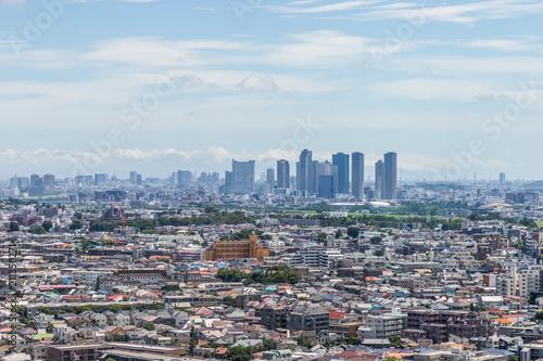 Fototapeta 武蔵小杉 高層ビル群全景 Musashi Kosugi skyscrapers