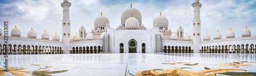 Panorama of Sheikh Zayed Mosque, Grand Mosque, Abu Dhabi