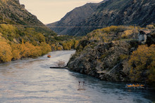 Winding River Gorge In New Zea...