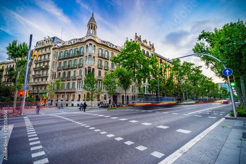Foto auf AluDibond Barcelona Avinguda Diagonal street in Barcelona