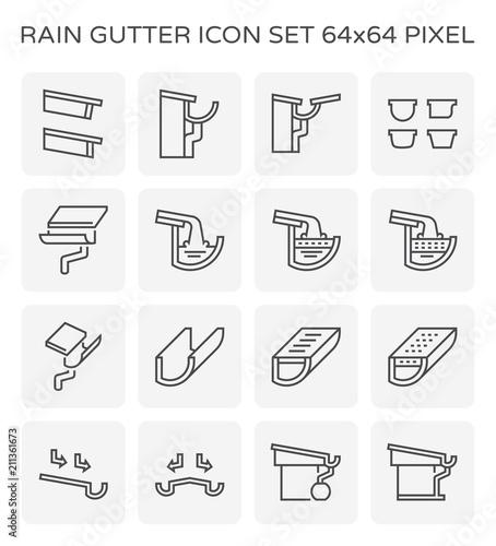 Vászonkép rain gutter icon