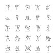 archery,athlete,basketball,billiards,body building,bowling,boxing,circle,computer graphic,cycling,design,exercising,games,golf,gymnastics,healthy lifestyle,hockey,icon,icon set,illustration,karate,kay