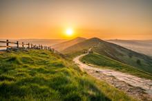 Sunrise At Mam Tor Hill In Pea...