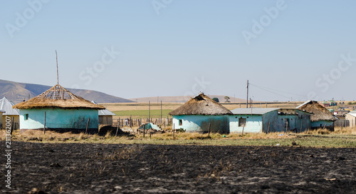 Zululand rural houses apartheid,  bantustan KwaZulu Natal near Durban Canvas Print