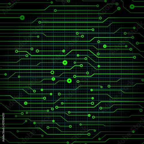 Circuit Board Future Scifi Technology Pattern Vector