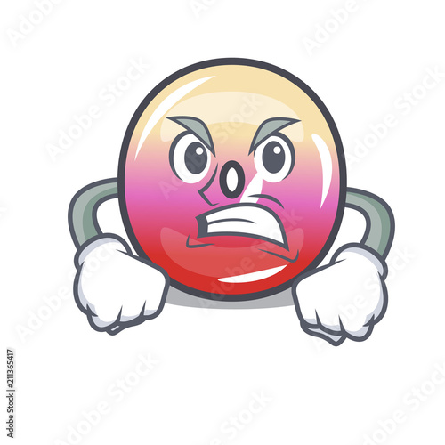 Canvas Print Angry jelly ring candy mascot cartoon