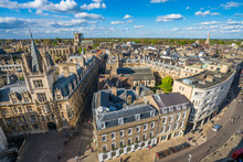 Aerial Panorama Of Cambridge, UK