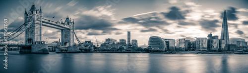 Fotografie, Obraz  Panorama of Tower Bridge in London, UK