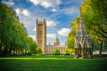 Westminster Abbey Viewed From Victoria Tower Gardens, London, UK