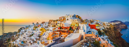 Fototapeta Oia at sunset in Santorini | Greece  obraz