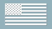 Paper Art Carve Flag, Vector, Illustration. USA Flag. Laser Cutting