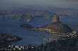 Breathtaking panoramic view from Mount Corcovado to the city of Rio de Janeiro in Brazil