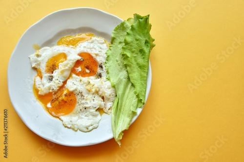 Fotobehang Gebakken Eieren omelette