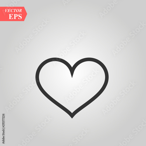 Heart Icon In Trendy Flat Style Isolated On Background Heart Icon