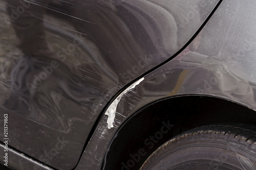 Fotografie, Obraz  車のドア付近の傷