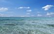 Kristallklares Wasser Mittelmeer Spanien Menorca Son Bou