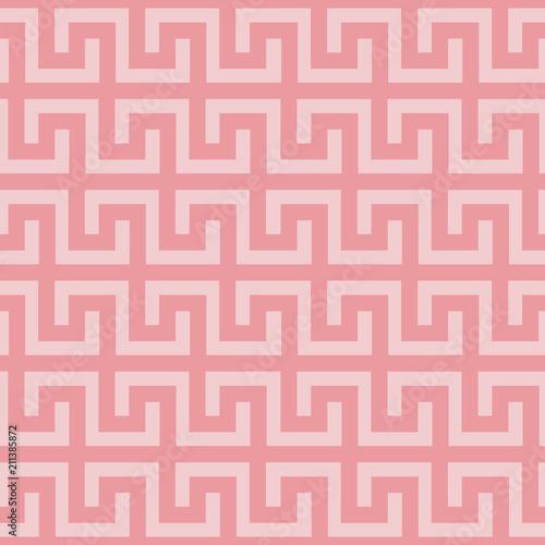 Seamless Greek Key Pattern Meander Motif Antique Repeating Texture Fabric Print