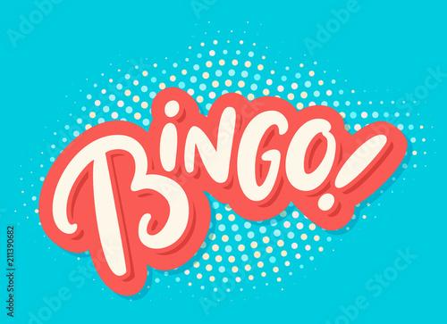 Bingo. Vector lettering. Canvas Print